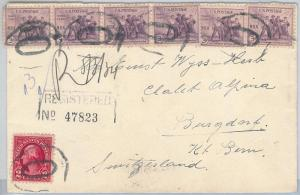 52484 -  UNITED  STATES -  POSTAL HISTORY: REGISTERED COVER to SWITZERLAND 1934