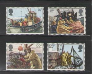 Great Britain  1981 Fishing Industry stamp set mint NH