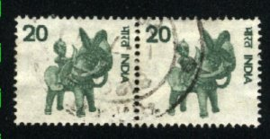 India 672      Pair   used  1975-88 PD