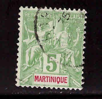 Martinique Scott 37 used 1892 stamp