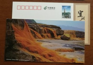 Group waterfall,China 2012 shaanxi yichuan hukou waterfalls series landscape PSC