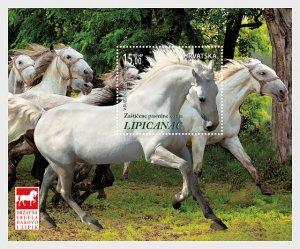 2018 Croatia Lipizzan Horse Breeds  SS   (Scott 1091) MNH