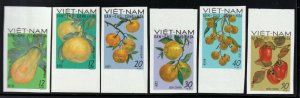North Viet Nam - 1969 - Sc 560 - 565  - Fruits - Imperforation - MNH