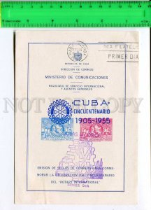 266628 stamp 1955 year first day Rotary International