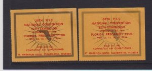 CINDERELLAS STAMPS ON 38th PSS NATIONAL CONFERENCE ( 2)  LOT#C-157