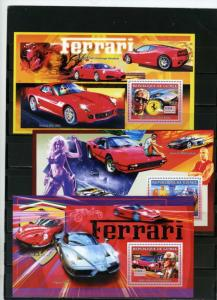 GUINEA 2006 RACING CARS/FERRARI SET OF 3 S/S MNH