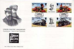 Isle of Man, First Day Cover, Trains