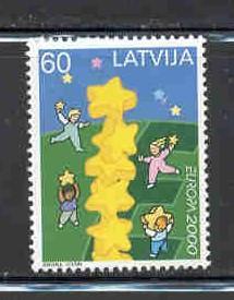 Latvia Sc 504 2000 Europa stamp mint NH