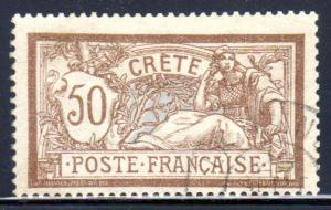 France Offices in Crete #12, Type Merson used, CV $12.50