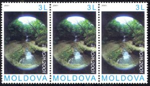 Moldova Sc# 376 MNH Strip/3 2001 Europa