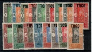 Togo Scott 193-209 Mint NH [TE923]
