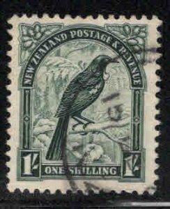 New Zealand Scott 214 Used Tui or Parson Bird stamp wmk 253