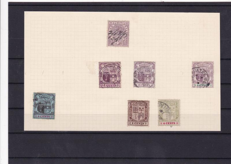 mauritius early used stamps ref 10437