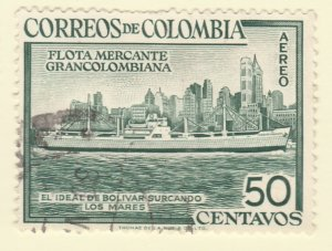 Colombia Air Post 1954 50c Fine Used A8P52F60