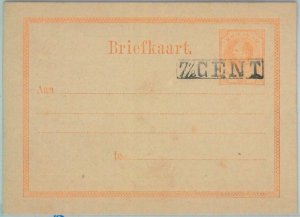 82088 - CURACAO - POSTAL HISTORY - OVERPRINTED  Postal Stationery Card