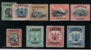 Labuan 1904 SC 110-118 Set LH CV $230.25