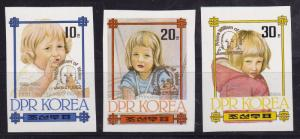 North Korea 1982 Princess Diana Birthday Nos. 2175-79 Overprinted in Gold XF/NH
