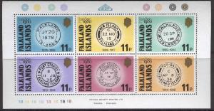 FALKLAND ISLANDS 304 MNH LONDON 1980 MINIATURE SHEET