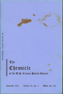 The Chronicle of the U.S. Classic Postal Issues, November...