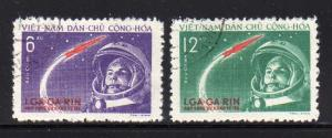North Vietnam 160-161 Set U Yuri Gagarian's Space Flight (B)