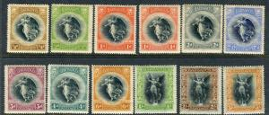 BARBADOS-1920-1 Victory.  A mounted mint set Sg 201-212