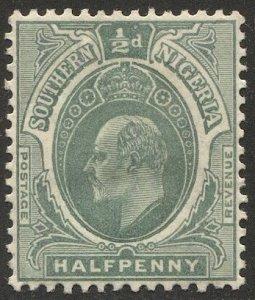 SOUTHERN NIGERIA 1908 Sc 32  1/2d KEVII MH  VF
