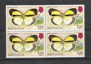 Antigua #387 Butterflies Block 4 MNH