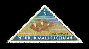 REPUBLIC OF SOUTH MALUKU STAMP. TOPIC: FISH. UNUSED. ITEM 3K