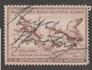 U.S. Scott #RW20 Duck Stamp - Used Single