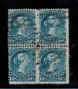 Canada #28 Used Rare Block