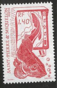 St. Pierre Miquelon Scott 481 MNH** 1986 Fishery stamp