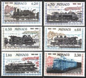 Monaco. 1968. 896-901. Trains. MNH.