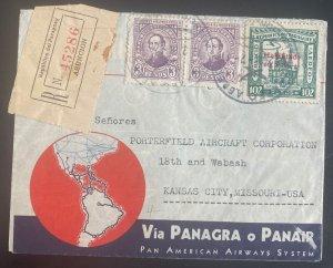 1938 Asuncion Paraguay Airmail Cover To Kansas City MO Usa Via PANAGRA