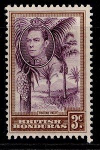 BRITISH HONDURAS GVI SG152, 3c purple & brown, M MINT.