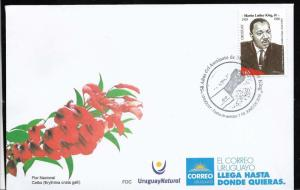 URUGUAY 2018 MARTIN LUTHER KING ANIVERSARY YV 2890 FDC