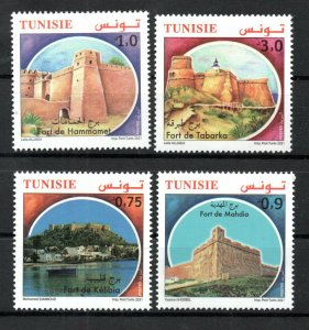 2021- Tunisia - Tunisie - Forts from Tunisia - Castles- Complete set 4v.MNH**