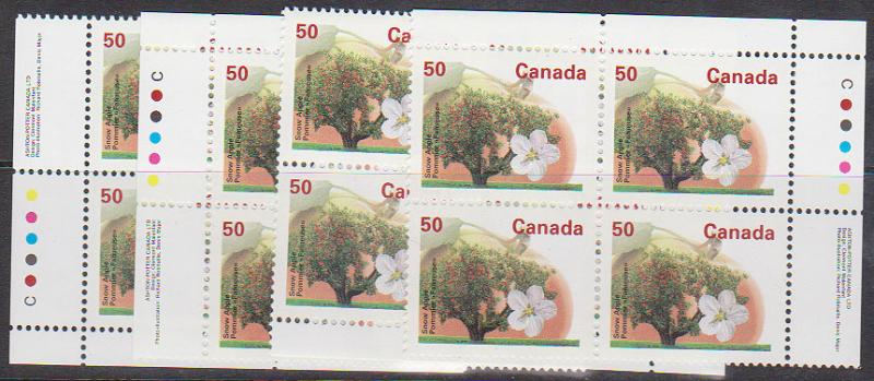 Canada USC #1365i Mint 1995 Ashton Potter 50c Snow Apple Perf. 13.1 MS VF-NH