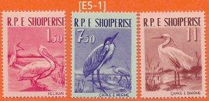 ALBANIA-1961[E5-1] Foul MiNr.630-32 ; GimNr.711-13,MNH