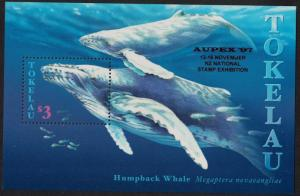 Tokelau Whales 'AUPEX 97' Overprint MS SG#MS273