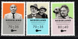 Netherlands Scott # B671 - B673, mint nh