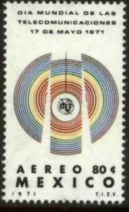MEXICO C387 World Telecommunications Day. MINT, NH. VF.