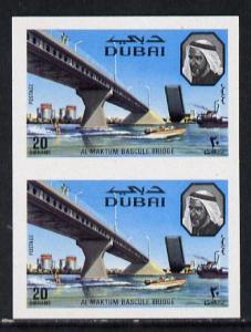 Dubai 1970 Al Maktum Bridge SG 364 20d in fine unmounted ...