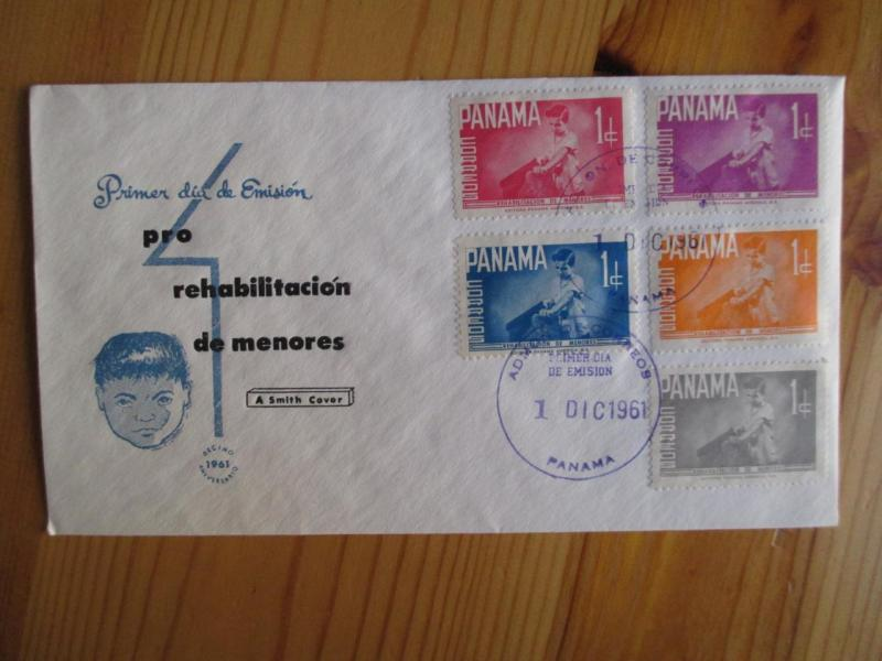 1961 Panama First Day Cover - Stamp Set Of 5 (YY75)