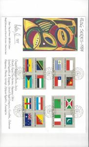 UN Flag Series1984 425-40 WFUNA Anthony Quinn Cachet Large Cover