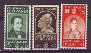 J21537 Jlstamps 1937 italy part of set mh #389-90,394 famous people