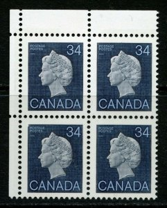 Canada 34c Queen. Unitrade 926. Missing Phosphor Tag Between Stamps (shown) MNH