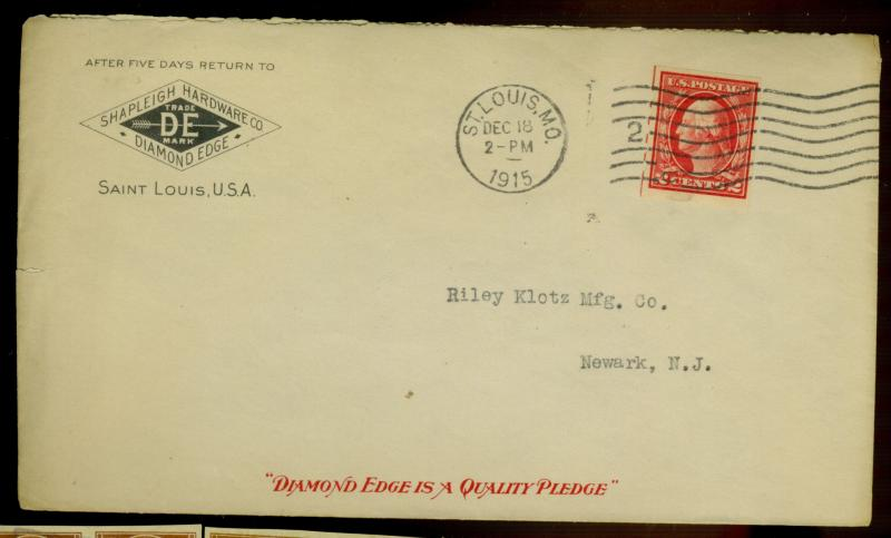 409 Mail O Meter Type 4 Used on Cover F-VF Cat$40