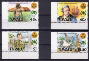 Tuvalu 1987 Sc#460/463 World Scout Jamboree-Cap.J.Cook SPECIMEN (4) MNH