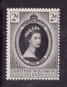 Solomon Is.-Sc#88-unused  NH Omnibus set-QEII-Coronation-id1-1953-