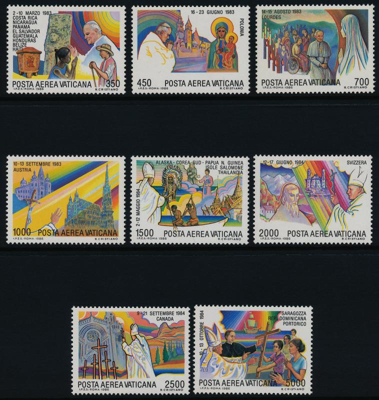 Vatican C75-82 MNH Journeys of Pope John Paul II, Cathedral